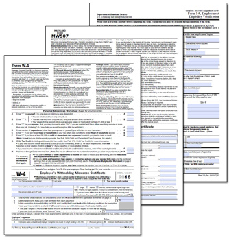 New Employee Payroll Forms  Free Printable Payroll Forms